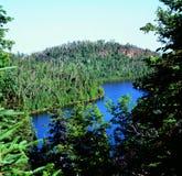 Wolf湖俯视-东北明尼苏达 免版税库存图片