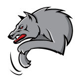 Wolf. Vector illustration of grey wolf Stock Illustration