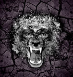 Wolf. Abstract wolf face  color bright background Royalty Free Stock Photos