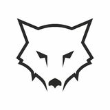 Wolf abstract logo Royalty Free Stock Image