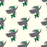 Wolf abstract  seamless pattern on a light background Royalty Free Stock Image