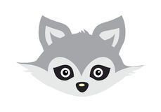 Wolf Animal Carnival Mask. Wild Gray Forest Dog. Wolf animal carnival mask vector illustration in flat style. Wild forest dog face. Funny childish masquerade Royalty Free Stock Photo