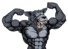 Wolf Animal Mascot Fotografía de archivo