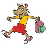 Wolf and bag Stock Photography