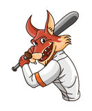 Wolf base ball player Stock Images