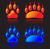 Wolf and bear paw Royalty Free Stock Photography