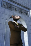 Wolf businessman manager Stock Photo