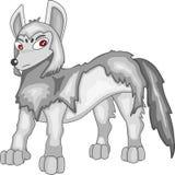 Wolf cartoon. Paint by illustrator royalty free illustration