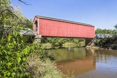 Wolf Covered Bridge i Illinois Royaltyfria Foton
