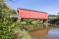 Wolf Covered Bridge in Illinois Royalty Free Stock Photos