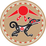 Wolf - Coyote - Native American Style. Including Vector stock illustration
