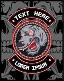 Wolf crazy vector stock illustration