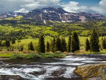 Wolf Creek Pass, Colorado immagine stock