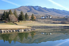Wolf Creek, Utah. Wasatch Front Mountains at Wolf Creek Royalty Free Stock Images