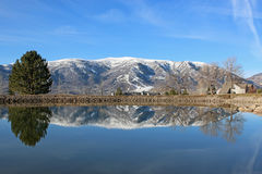 Wolf Creek, Utah. Wasatch Front Mountains at Wolf Creek Stock Image