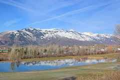 Wolf Creek, Utah. Wasatch Front mountains at Wolf Creek Stock Photos