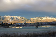 Wolf Creek, Utah. Wasatch Front mountains in evening light Royalty Free Stock Photography