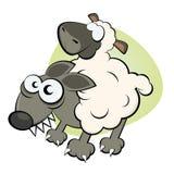 Wolf in der Kleidung des Schafs Lizenzfreie Stockbilder
