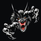 Wolf devil Royalty Free Stock Photography