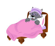 Wolf disguised as and old woman. Vector clip art illustration. Royalty Free Stock Images