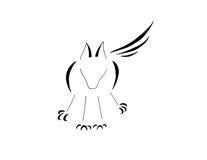 Wolf Dog Standing Guard, línea arte estilizada libre illustration