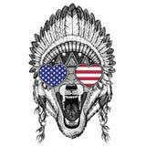 Wolf Dog Wild animal Hand drawn illustration for tattoo, emblem, Stock Photos