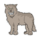 Wolf draw Royalty Free Stock Image