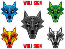 Wolf emblem Royalty Free Stock Photography