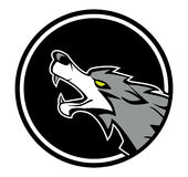 Wolf emblem Royalty Free Stock Photo