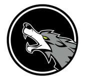 Wolf emblem. Illustrator desain .eps 10 Royalty Free Stock Photo