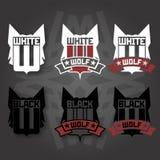 Wolf emblem Royalty Free Stock Image
