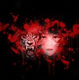 Wolf en meisje vector illustratie