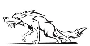 Wolf. Eps image  illustration Royalty Free Stock Photo