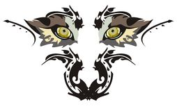 Wolf eyes. Isolated on a white background vector illustration