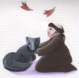 wolf för broderfrancis saint vektor illustrationer