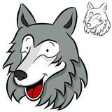 Wolf Face Stock Photography