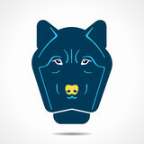 Wolf face icon illustration Stock Images
