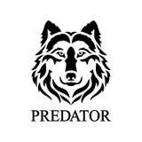 Wolf Face Logo royaltyfri illustrationer