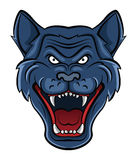 Wolf Face Mascot Imágenes de archivo libres de regalías