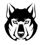 Wolf face symbol Stock Photos