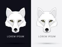Wolf Fox Head Face blanco Imagen de archivo