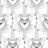 Wolf geometric seamless pattern Royalty Free Stock Photos