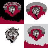 Wolf. Grey Wolf. Bad Wolf. The emblem of the wolf Stock Image