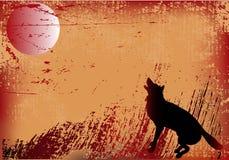 Wolf Grunge Background Stock Image