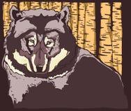 Wolf Guarding la forêt Photos stock