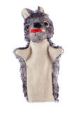 Wolf - hand puppet Royalty Free Stock Photography