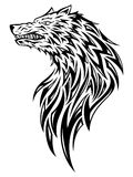Wolf Head. Illustration of a wolf head tattoo/symbol Royalty Free Stock Images