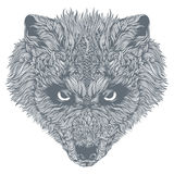 Wolf Head astratto Vettore Immagine Stock