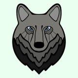 Wolf head black predator symbol freedom. Vector illustration Wolf Royalty Free Stock Images