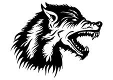 Wolf head emblem Stock Photography